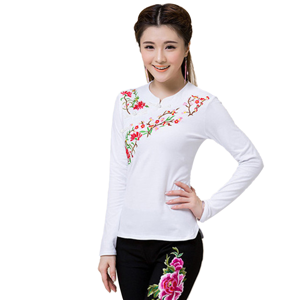 2018 Brand Spring Plus Size Women Blouse Shirt Cotton Fashion Embroidery Blusas Feminina Pullover Quality Body Tops Tee Clothing 5