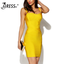 2018 Bandage Dress Sexy Mini Spaghetti Strap Bodycon Strapless Club Party Summer Lady Dresses Femme Vestidos