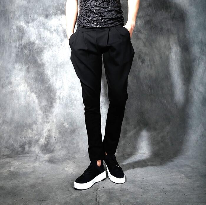 Spring summer personality fashion slim harem pants mens trousers pantalones hombre cargo ...