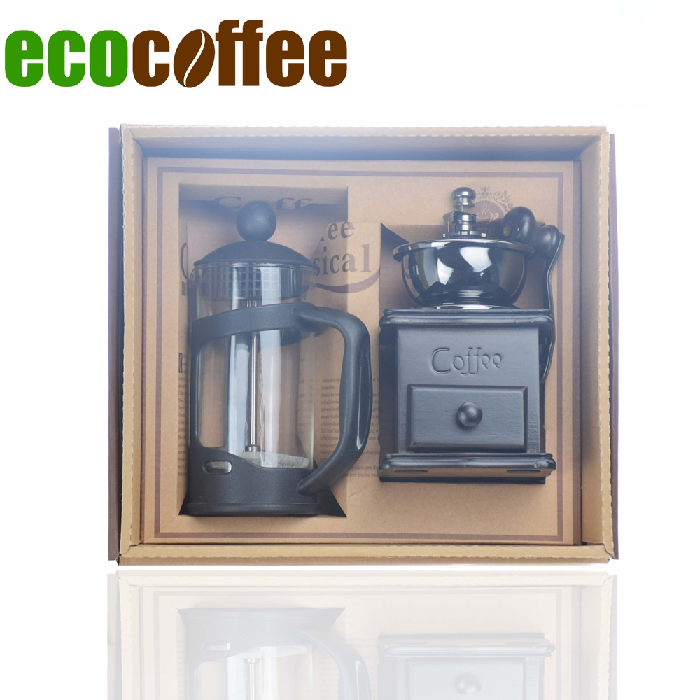 350ml:  New Arrival Coffeeware Set 350ml French Press Manual Coffee Grinder DIY Household Coffeeware Gift Set for Family Friends Lovers - Martin's & Co