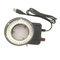 Black col 48pcs LED SMD USB Adjustable Ring Light illuminator Lamp For Industry Microscope Industrial Camera Magnifier