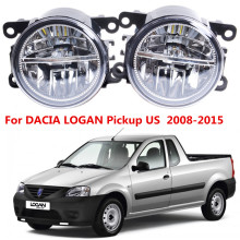 For DACIA LOGAN Pickup US  2008-2015 10W Front bumper LED fog lights Car styling Fog lights 1SET