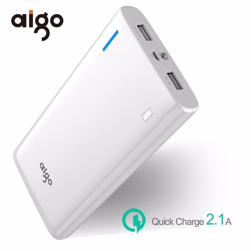 Aigo 20000mAh Large Capacity Power Bank External Battery Backup Portable Dual USB Powerbank For Mobile Phones