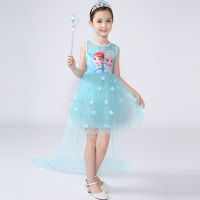 2018 New Anna Elsa Dress Kids Sofia Princess Party Costume Cosplay Snow Queen Fantasy Baby Girls