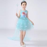 2018 New Anna Elsa Dress Kids Sofia Princess Party Costume Cosplay Snow Queen Fantasy Baby Girls