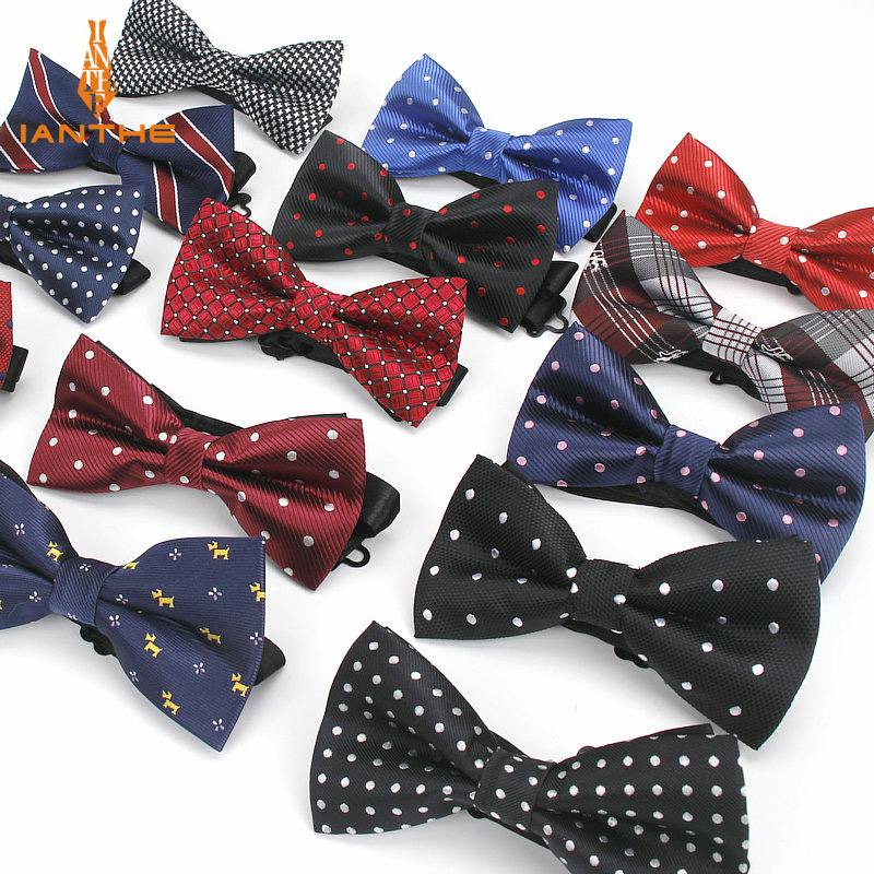O-C 3pc Mens Wedding Dressup Double Bow tie Butterfly tie Texture of Stripes