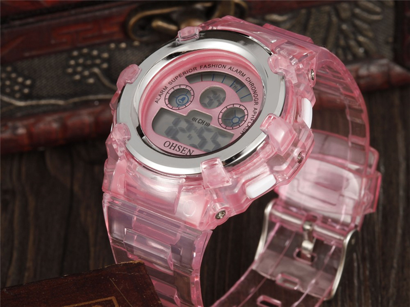 OHSEN Kids Watches Children Digital LED Fashion Sport Watch Cute Boys Girls Wrist watch Waterproof Gift Watch Alarm Kids Clock (26)