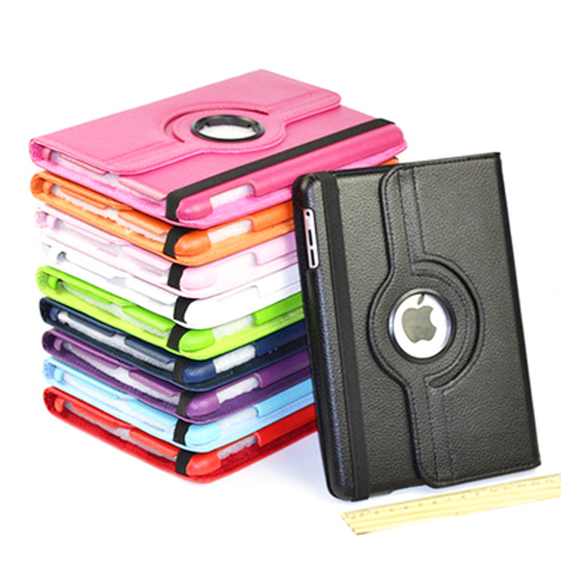 Shockproof Leather Case For Apple iPad 2 3 4 Smart Flip PU 360 Rotating Magnetic Stand Holder for ipad 4 3 2 Cover lychee texture pu leather magnetic flip pouch protective case for ipad mini 2 3 white