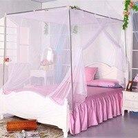 مظلة بيضاء أربعة ركن بوست طالب سرير الستارة ناموسية شبكية moustiquaire التوأم الملكة الملك الحجم جديد 1 قطع d1