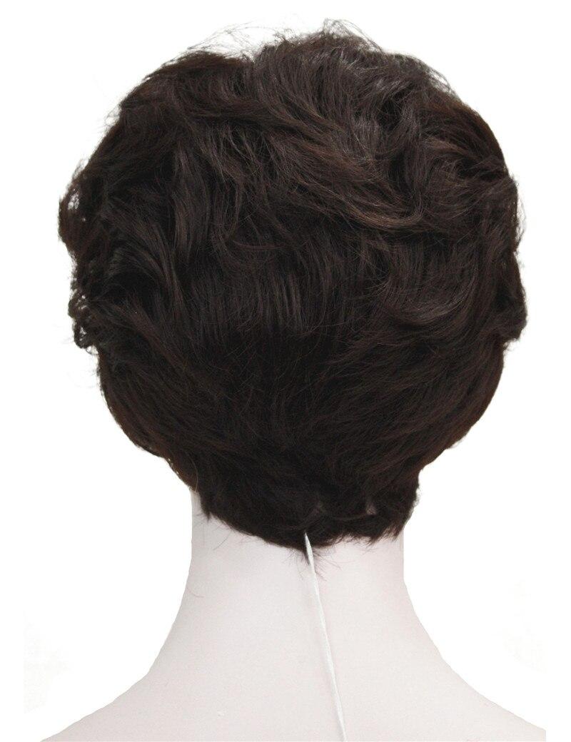 StrongBeauty Shag стиль синтетические парики короткие волнистые слоистые темно-Обурн пользовательские парики для афро-американских - Цвет: 33