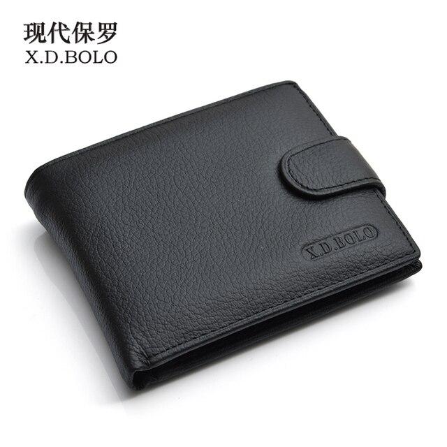 X. d. боло люкс 100% натуральная кожа бумажник модные короткие двойные Для мужчин кошелек Повседневное Для мужчин кошельки с монета карман кошельки Мужской