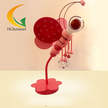 Pink Blue Bee cartoon children's room decoration desk lamp table lamp creative lamp boys and girls