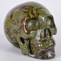 2669g Искусство Статуя череп Природных Дракон кровь Камень человеческого головная фигурка минеральный кристалл ручной фэн шуй Исцеление Дек