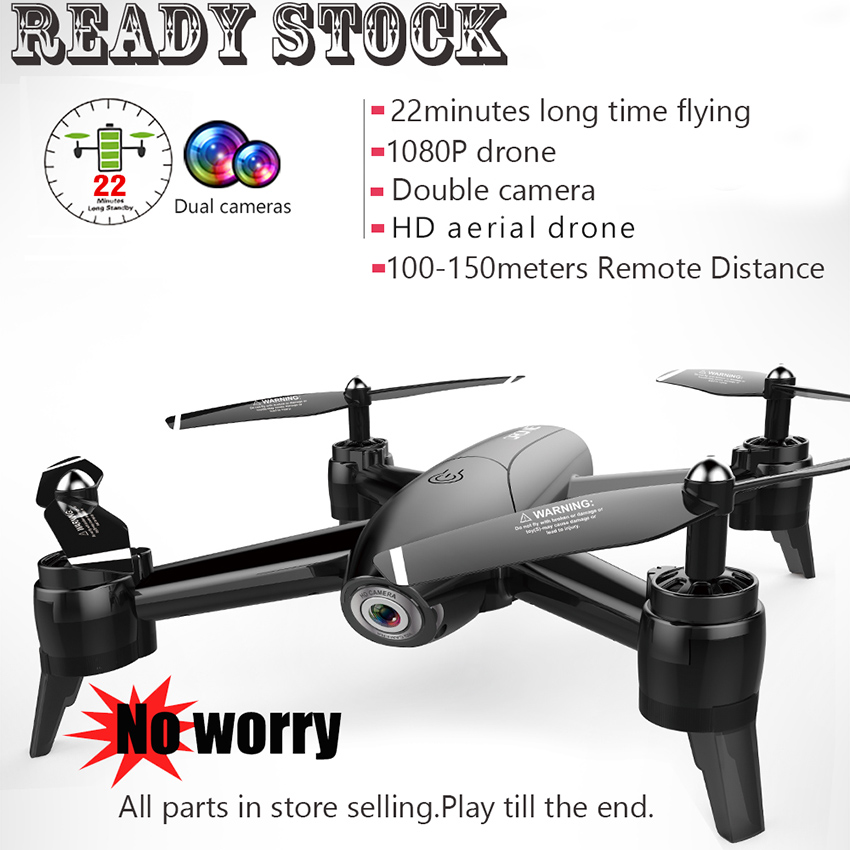 Ready stock RC Drone double wifi Camera 1080P 5MP FPV Quadcopter Optical Flow model 22minutes fly time 100meters Remote Distance image