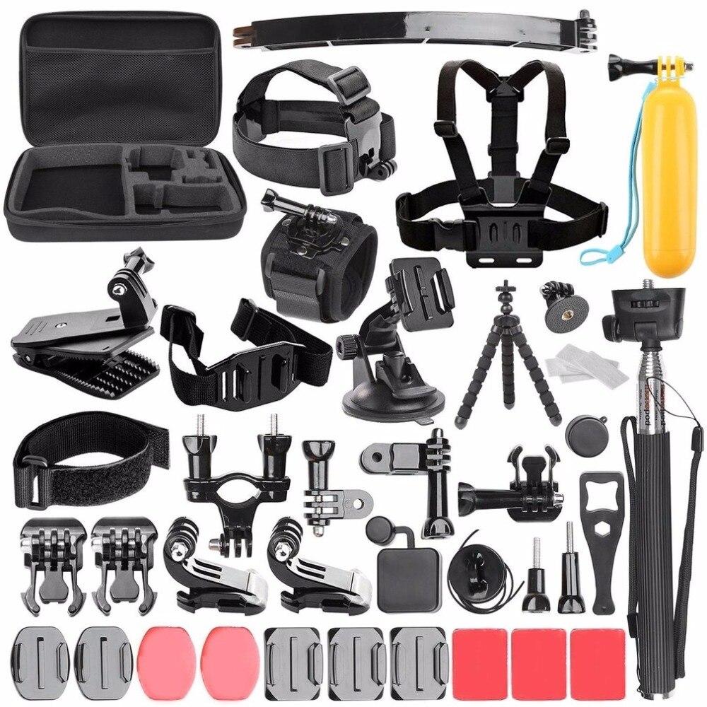 Acessórios da câmera Conjunto com Handheld Monopé Strap Mount para go pro herói 5 4 3 kit Para SJCAM Sports Action Camera Acessórios