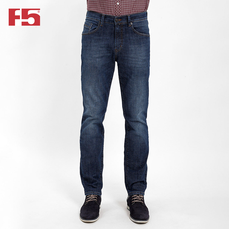Men jeans F5 285017 mens jeans fashion slim elastic straight biker jeans men skinny casual ripped for men bermuda jeans masculina 29 42