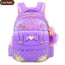 Coolbaby Fashion School Backpacks Children School Bags High Quality PU Backpack Girls Book Bag 1 - 3 - 6 Grade Schoolbag D342