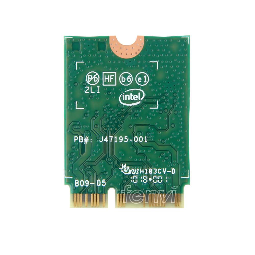 Banda dupla 1.73 gbps 802.11ac wifi rede sem fio wlan cartão para intel 9560 9560ngw ngff chave e 2.4g/5 ghz wi-fi bluetooth 5.0
