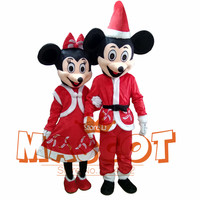 2017 actual picture christmas mouse Mascot costumes for Halloween party activity Fancy christmas Santa Claus adult size