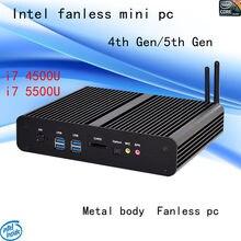 ФГП Intel i7 безвентиляторный мини-ПК 4500u 5500u HTPC Blu-Ray Micro PC маленький Размеры HTPC 4th Gen/5th Gen Бесплатная доставка Windows 10 шт.