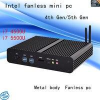 HRF intel i7 Fansız Mini PC 4500u 5500u HTPC Blu-Ray Mikro PC Küçük Boyutlu htpc 4th Gen/5th Gen freeshipping windows 10 adet