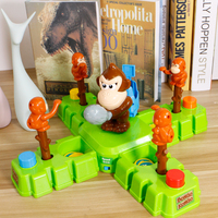 Monkey steal banana gold coin desktop competitive game puzzle parent child interactive toy family party game