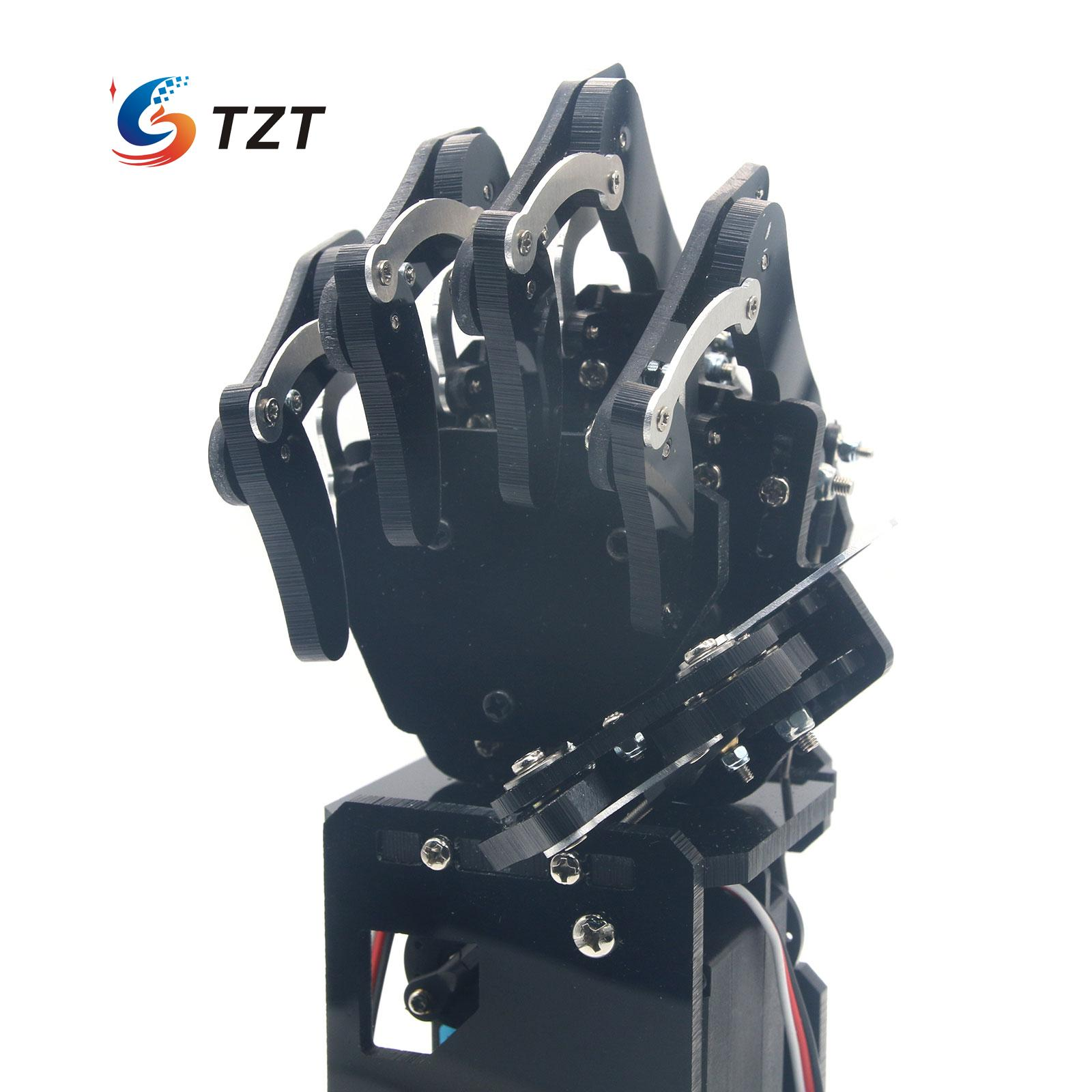 2017 Robot Mechanical Arm Claw Humanoid Right Hand with Servos DIY Assembled