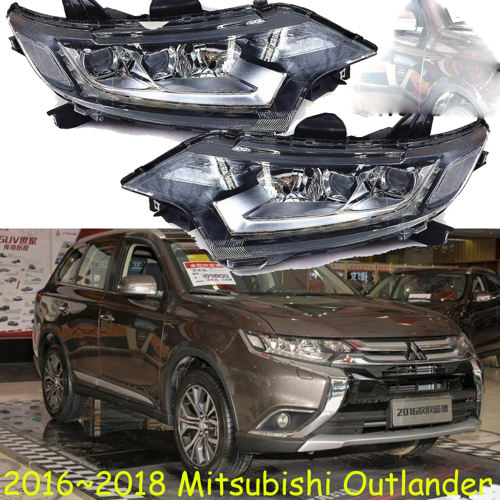 LED,2016~2018,Car Styling,Outlander Headlight,Endeavor,ASX,Expo,Eclipse,verada,pajero,Triton,Outlander head lamp yuzhe linen car seat cover for mitsubishi lancer outlander pajero eclipse zinger verada asx i200 car accessories styling cushion