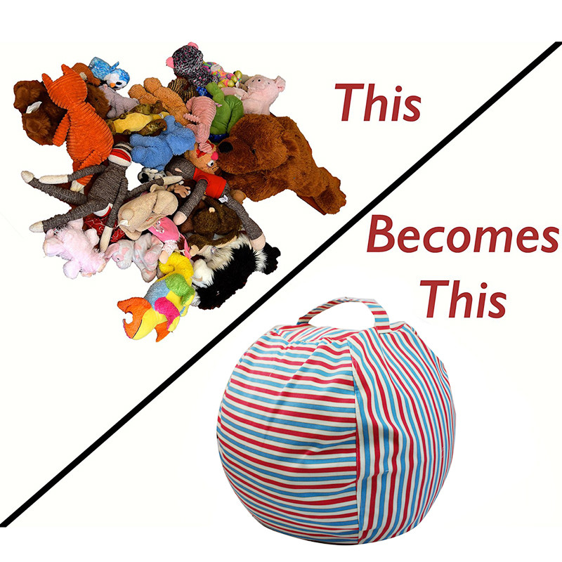 1 Stks Grote Capaciteit Speelgoed Opbergzakken Kids Knuffeldier Knuffel Opslag Bean Bag Stoel Draagbare Baby Kleding Organizer Pouch Nieuwste Technologie