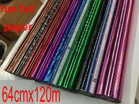 Hot Foil Paper 64cmx120m For Hot Stamping Machine Free Shipping To Many Countries