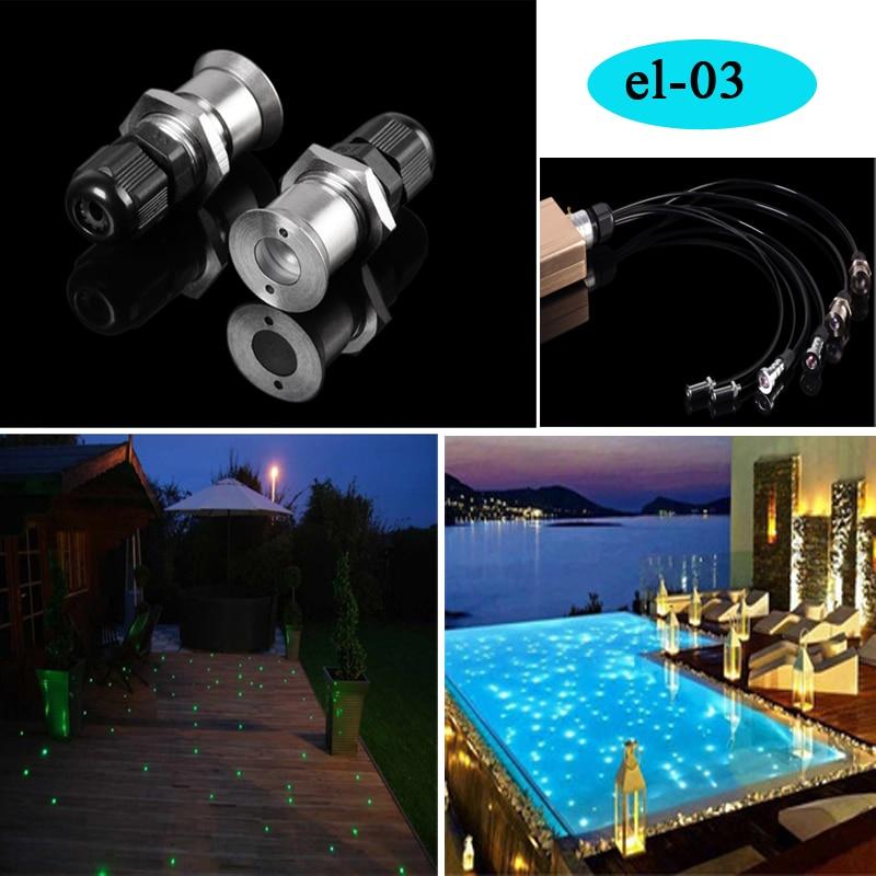 la piscine sous-marine imperméable a mené la décoration légère d'étoile de fibre optique d'éclairage
