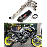 Exhaust Full system FOR Yamaha MT 07 MT07 FZ 07 FZ07 MT 09 MT09 for 51mm Carbon Fiber DB killer exhaust middle pipe link pipe