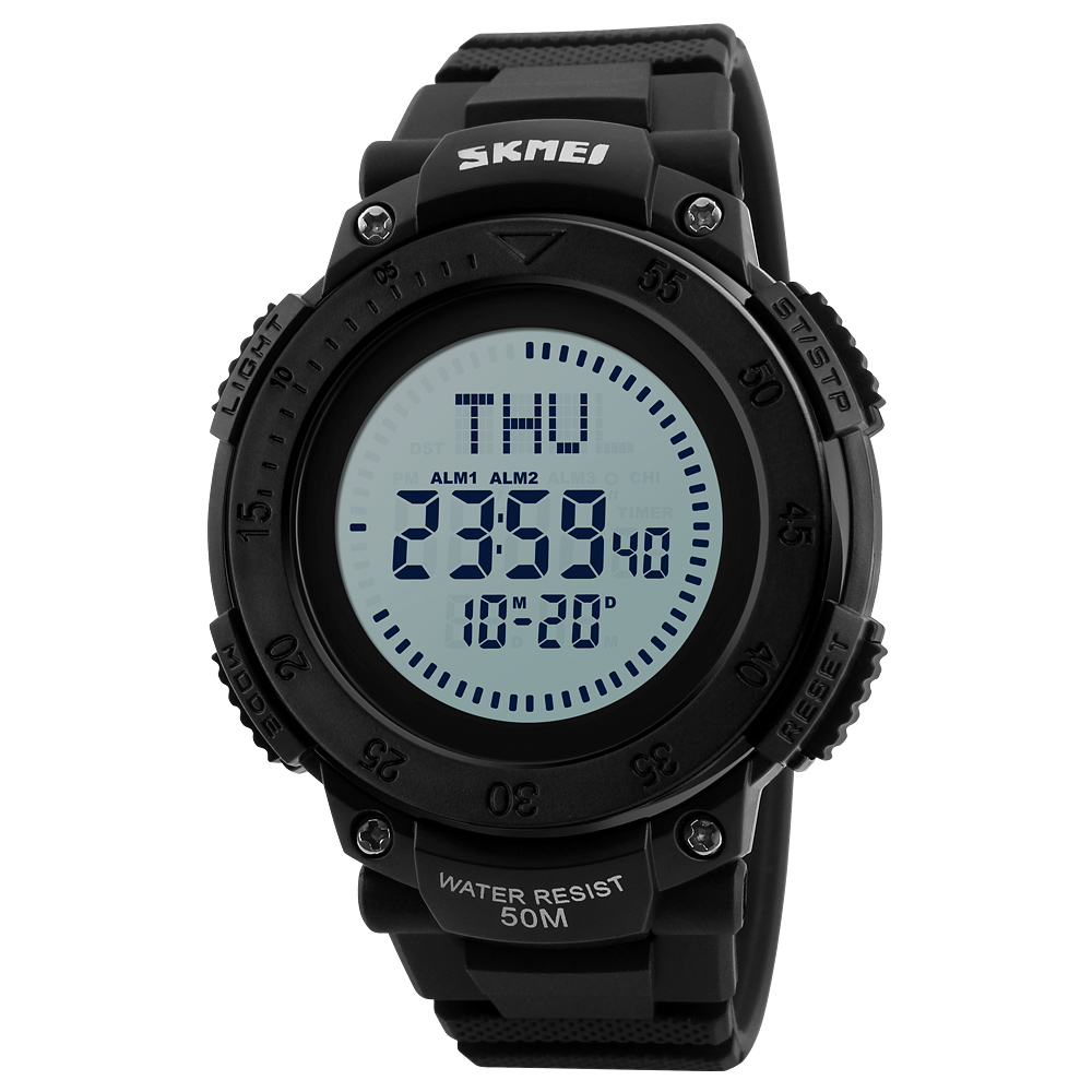 2019 <font><b>SKMEI</b></font> Outdoor Military Watches Compass Men Sports LED Digital Watch Brand Clock Wrist 1136 image