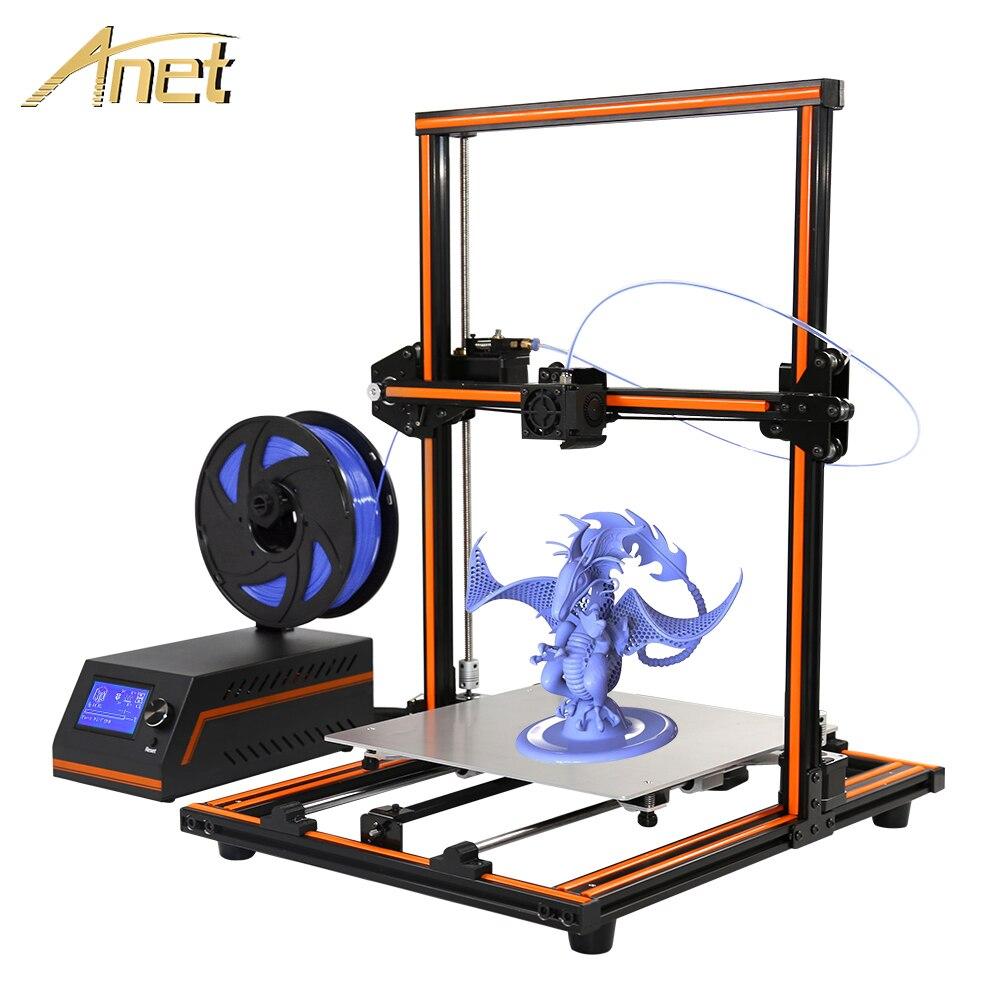 Anet A4 impresora 3d kit DIY Anet E12 3d printer Plus size 300*300*400mm Printing Size 3d Printer Reprap prusa i3+PLA Filament anet 340m 1 75mm pla 3d printing filament for 3d printer
