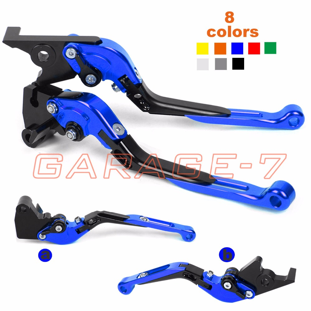 For Yamaha YFZ 350 Banshee 2002-2008 CNC Motorcycle Foldable Extendable Brake Clutch Levers Hot Moto Folding Extending Lever motorcycle levers clutch and brake folding lever for xl883 1200 x48 moto modification
