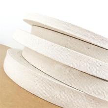 New 15mm/20mm/25mm/30mm/38mm 10 meter Beige Canvas Ribbon Belt bag webbing/label ribbon/Bias binding tape Diy craft projects