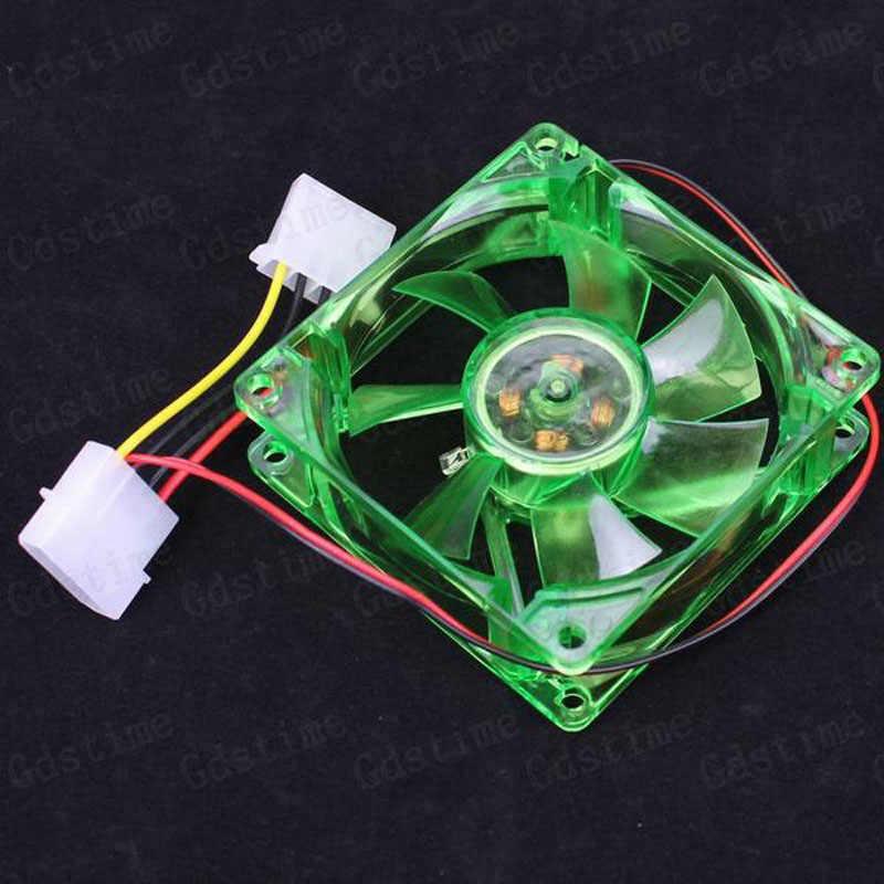 1 шт. Gdstime 80x80x25 мм 8 см 12 В 4Pin зеленый светодиодный компьютерный корпус охлаждающий кулер вентилятор 80 мм x 25 мм