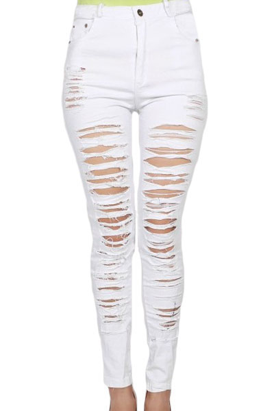 Compare Prices on White Women Jeans- Online Shopping/Buy Low Price ...