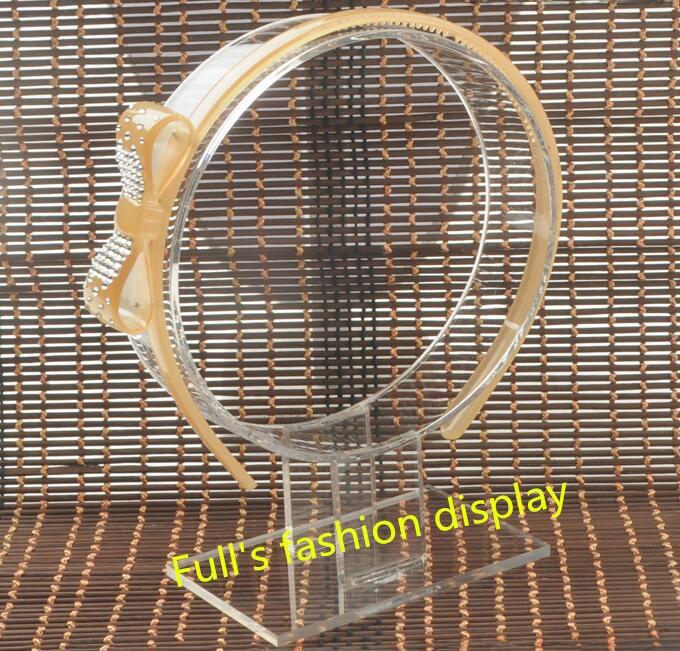 POP-STYLE 2Pcs Headband Holder Headphone Headset Headgear Display Holder Black Transparent Acrylic Display Organizer