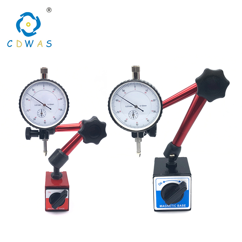 Magnetic Stands Dial Indicator Universal Magnetic Base Holder Stand Table Scale Precision Indicators Measurement Tool Set