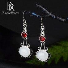 Begua Ringen 2019 New Fashion Created Moonstone 925 Silver Jewelry Drop Earrings for Women Bohemia Wedding Brand Gifts