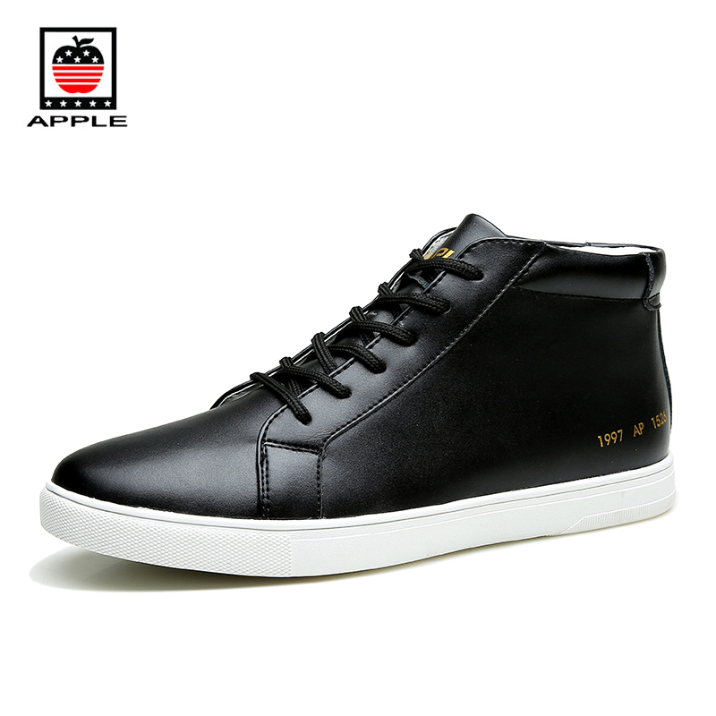 Prix pour Apple Printemps Automne Hommes de Haute Coupées Chaussures de Skate Marque Imperméable Vache En Cuir Classiques Force Sneakers pour Hommes AP-1526C