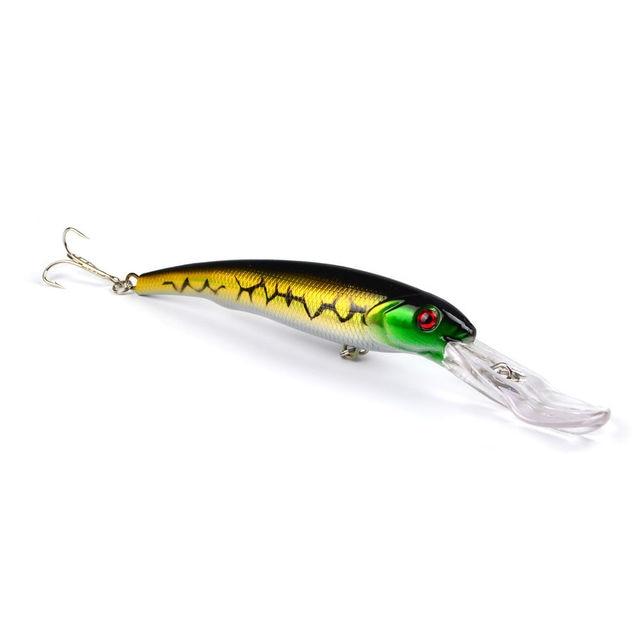 Offre spéciale 3 pièces appâts de pêche à leau de mer vairon appâts gros leurres durs 3D yeux mer matériel de pêche Wobblers Pesca Isca 165mm 28.7g
