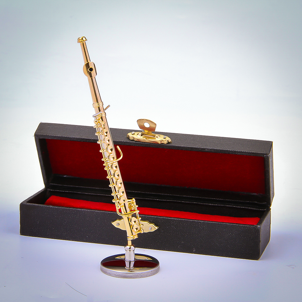 Musical instruments ornaments - Music Instrument Ornament Model Musical Toy Accessories Small Size Flute 11cm China Mainland