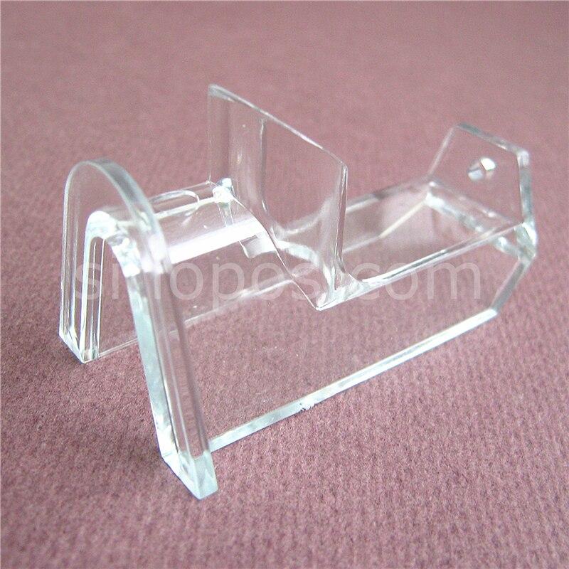 Soporte acrílico para pared colgador para gafas, slatwall gafas de sol individuales soporte de exhibición bastidores soportes moldeados transparentes Exposición de gafas
