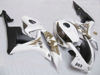 km part fairing CBR600F5 07 08 F5 2007 2008 F5 CBR600RR injection 07 08 CBR 600 600RR CBR600 RR white coffee