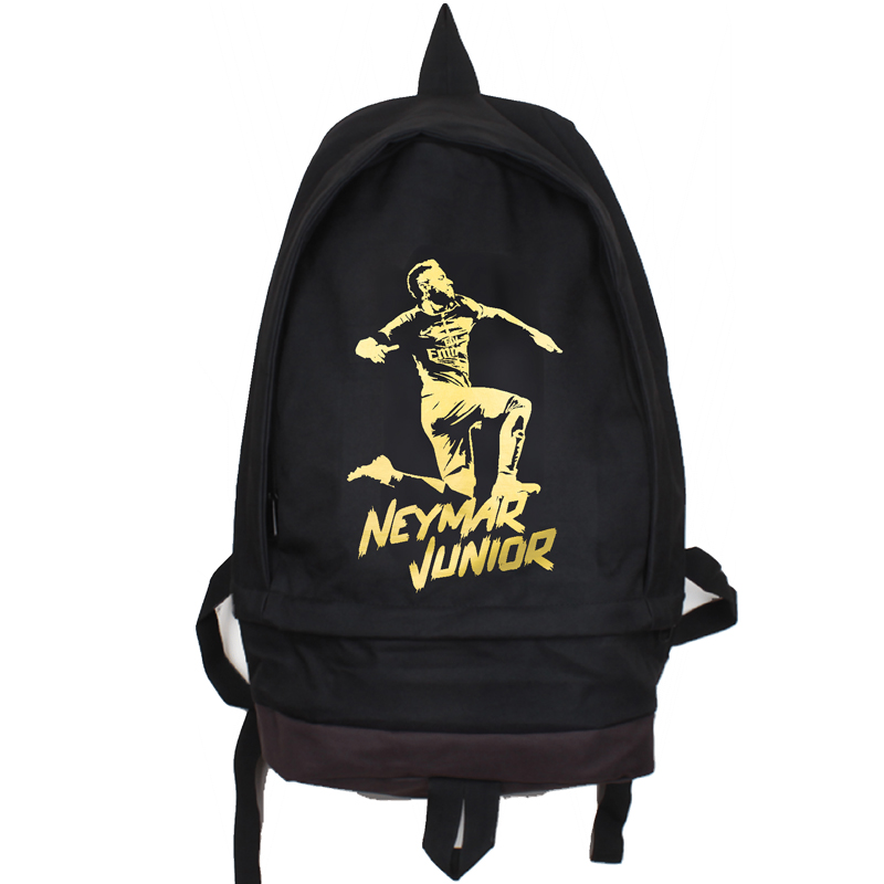 Neymar Junior Canvas Backpack Large Capacity Travel Backpacks Foot Ball  Training Bagpack Children School Bag Mochila Escolar Tags  d73da7e94732f