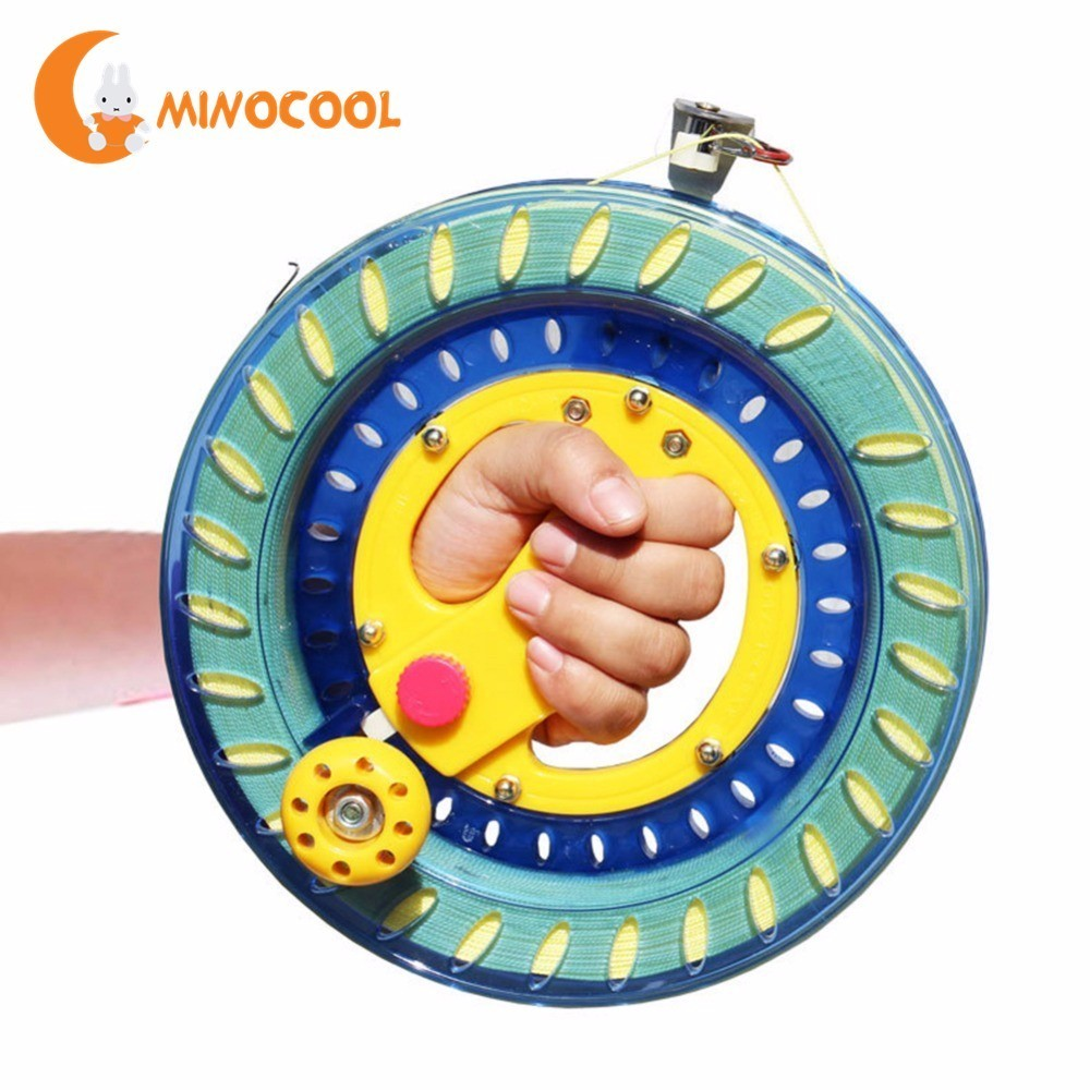 Professional Kite Line Winder Winding Reel Grip Wheel + String Flying Tools & Lock Kit Suitable for a Variety of Kites