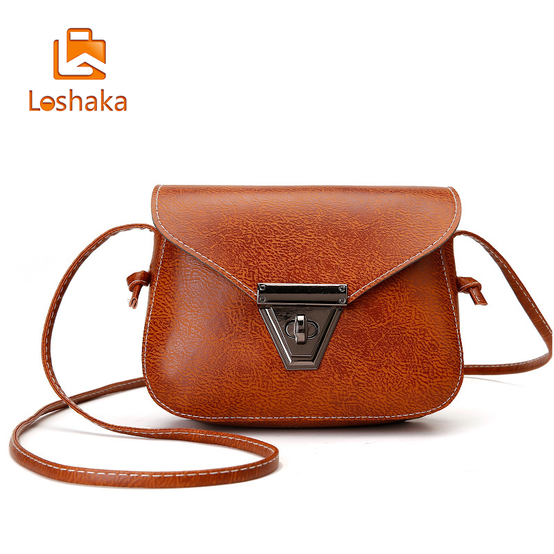 Loshaka Women Messenger Bags High Quality Cross Body Bag PU Leather Mini Female Shoulder Bag Handbags 2017 Global Shopping yesetn bag hot selling high quality unisex women men small vintage messenger bag brown female male cross body shoulder bags