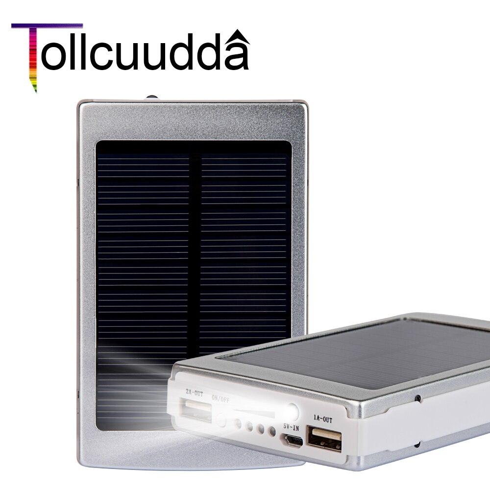 Tollcuudda poverbank solar power bank 10000 mah cargador portátil de batería ext